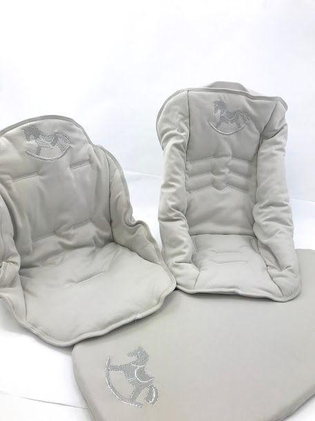 Kit capa carrinho e bebe conforto em algodão egípcio para o seu modelo