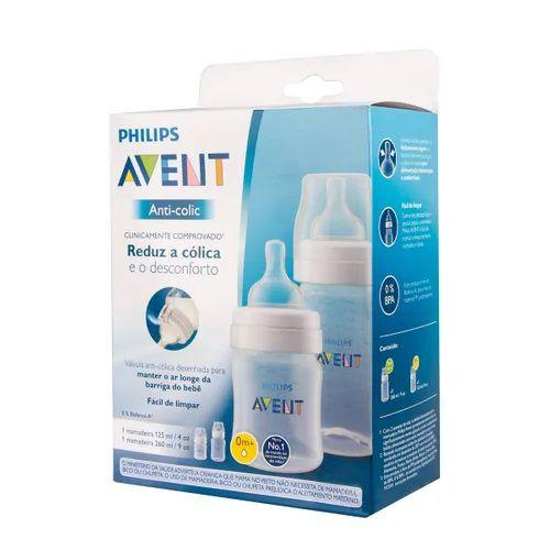 Kit Mamadeiras Anti Cólica 125ml 260ml - 2 und Philips Avent