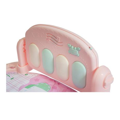 Tapete Bebê Pianinho Mobile Musical Melodia Rosa Baby Style
