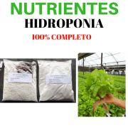 Kit Nutrientes Completo 1000 Litros De Solução Nutritiva Hidropônica