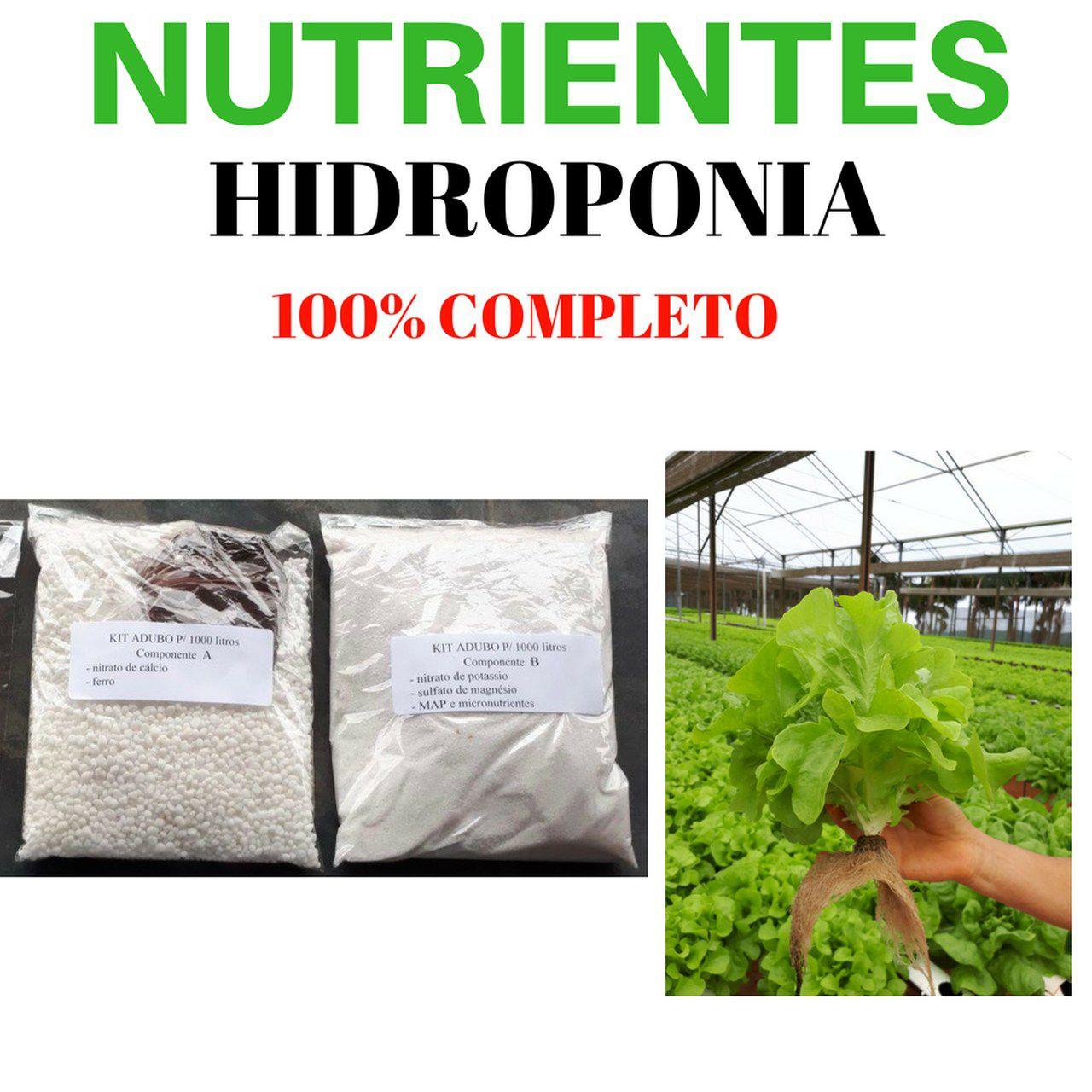 Kit Nutrientes Completo 1000 Litros De Solução Nutritiva Hidropônica  - ORQUIDEA GARDEN