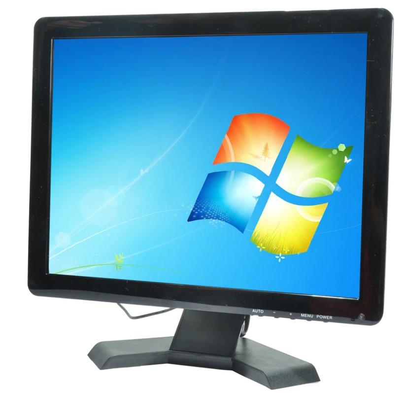 """Kit Monitor 15""""+Cpu Dell (teclado, mouse e cabos)"""