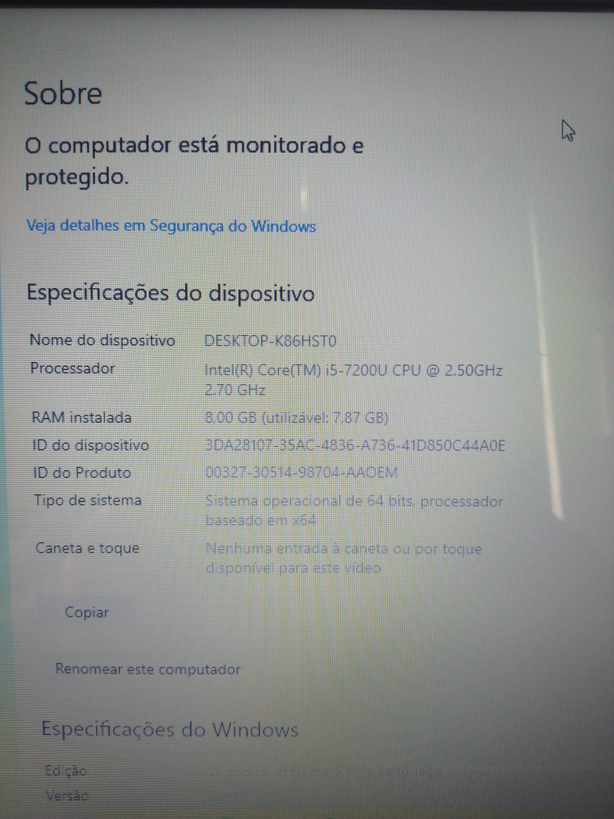 Notebook Acer ASPIRE F5-573 I5/8GB/120SSD