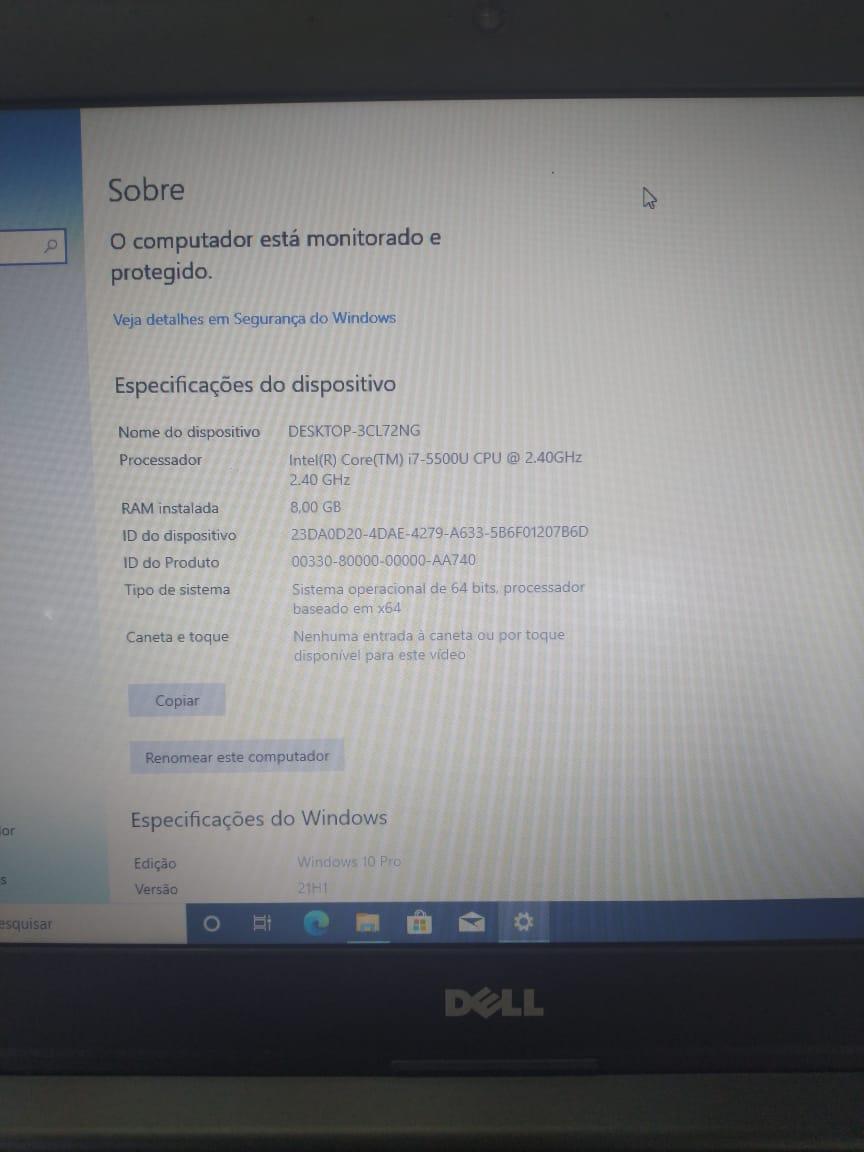 Notebook Dell Lat. 3450 i7/8GB/SSD120GB