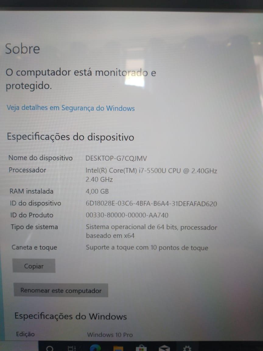 Notebook Lenovo Yoga 500 i7/4gb/120SSD