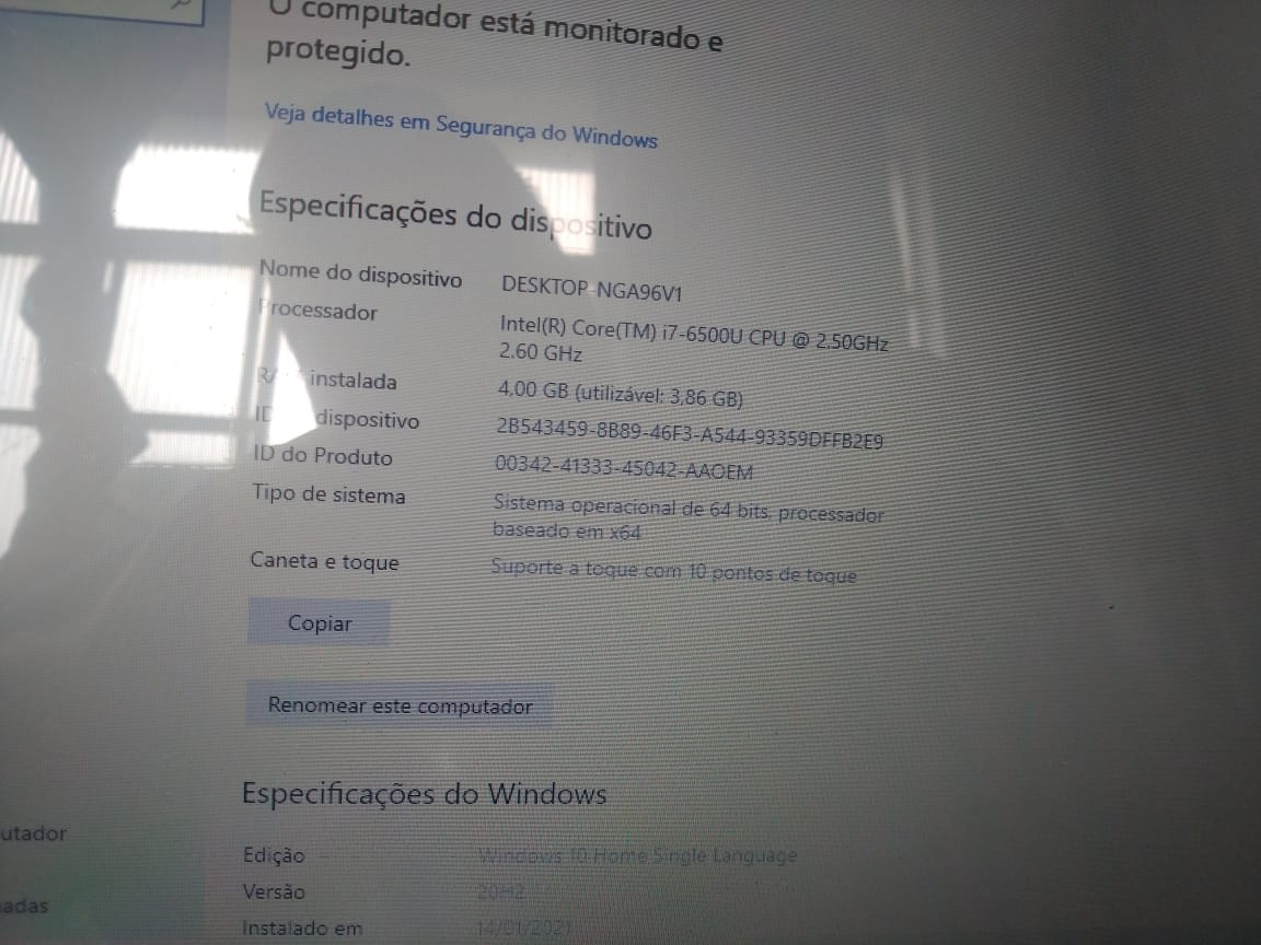Notebook Lenovo Yoga 510-14ISK i7/4gb/1tb