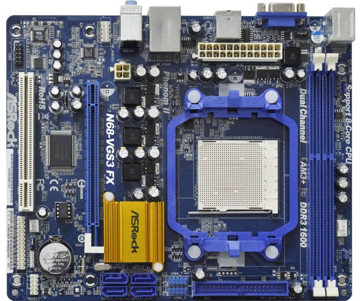 Placa Mae ASROCK - N68-VGS3 FX