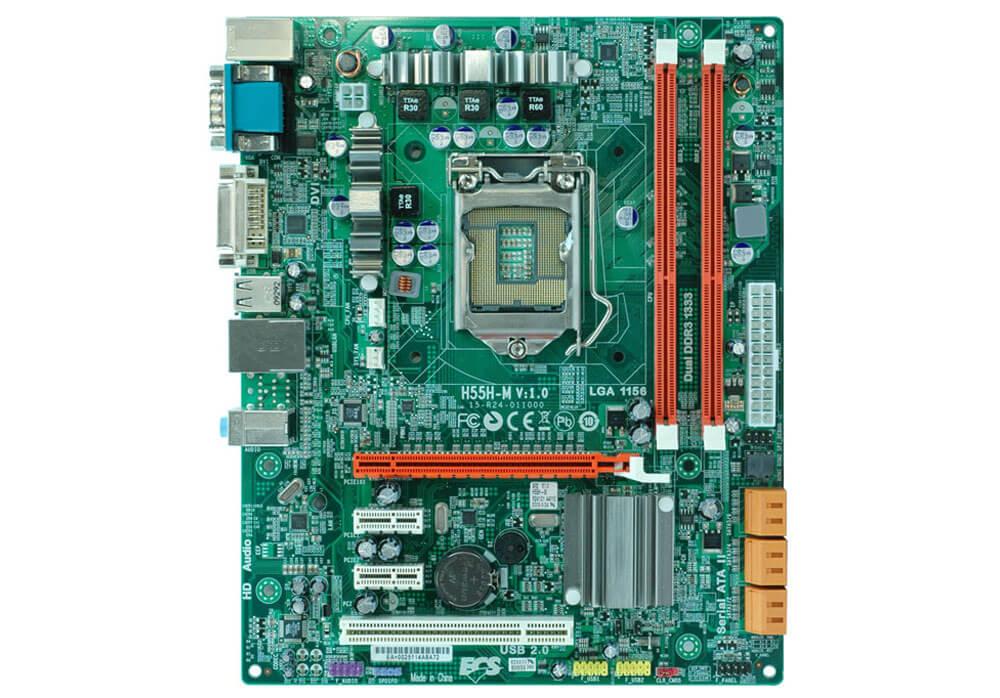 Placa Mae ECS - H55H-M V: 1.1