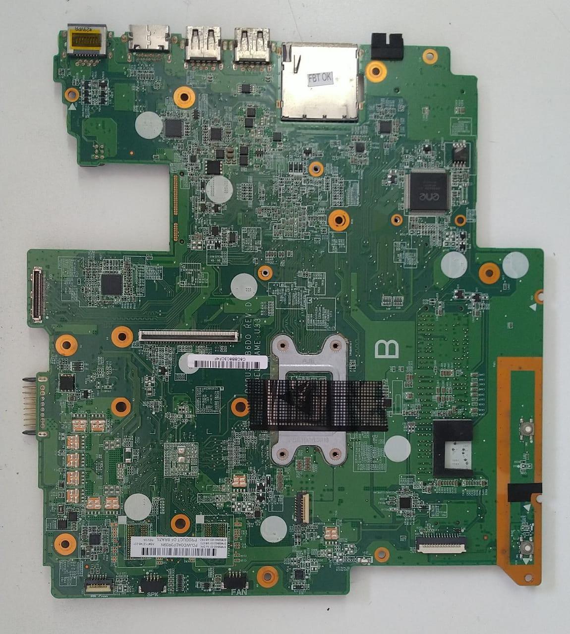 Placa Mae Notebook HP - DA0U33MB6D0 (i3 3217U)