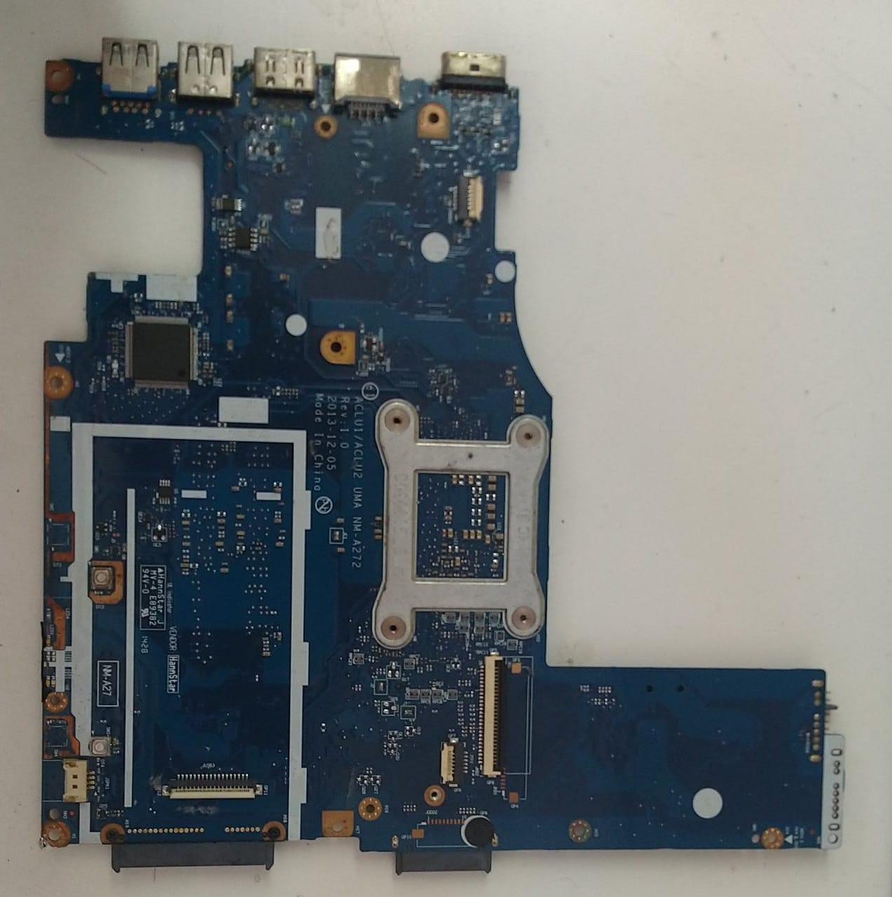 Placa Mae Notebook Lenovo - ACLU1/2 UMA NM-A272 C/ I3 4005U