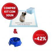Compre 2 Itens: Tapete Higiênico kit 30 un Tam 60 x 60cm Absorção 1 litro + 1 Comedouro Lento com 42% de desconto