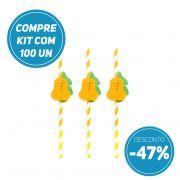 Compre AGORA kit 100 unidades de canudos de papel festas Pêra e ganhe 47% de desconto