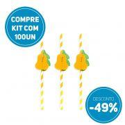 Compre AGORA kit 100 unidades de canudos de papel festas Pêra e ganhe 49% de desconto