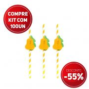 Compre AGORA kit 100 unidades de canudos de papel festas Pêra e ganhe 55% de desconto
