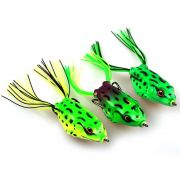 Isca Artificial Sapinho Frog Tropical de Silicone Pack com 3