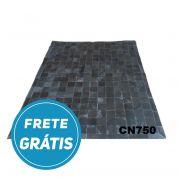 Tapete de Couro de Boi 2m X 1,5m Natural Costurado 10cm x 10cm Com Borda - CN750