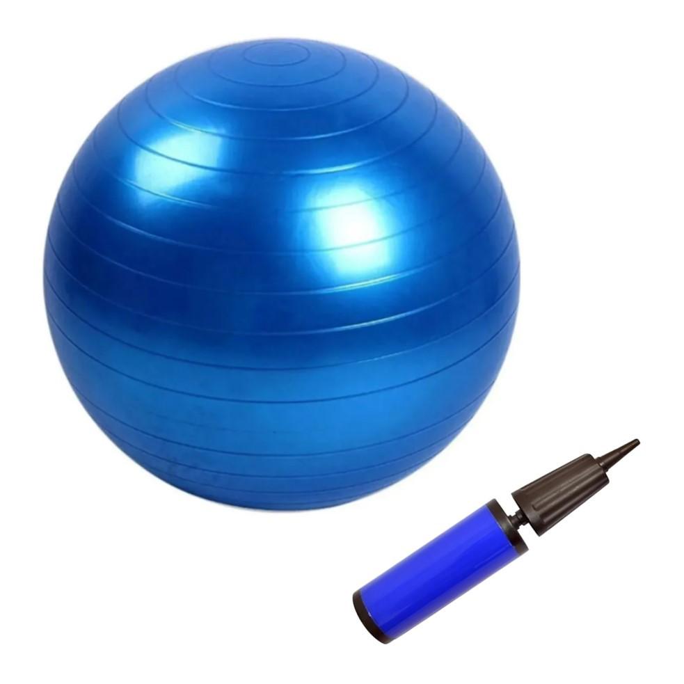 Bola de Ginástica 65cm Suiça para Yoga e Pilates com Bomba de Mão