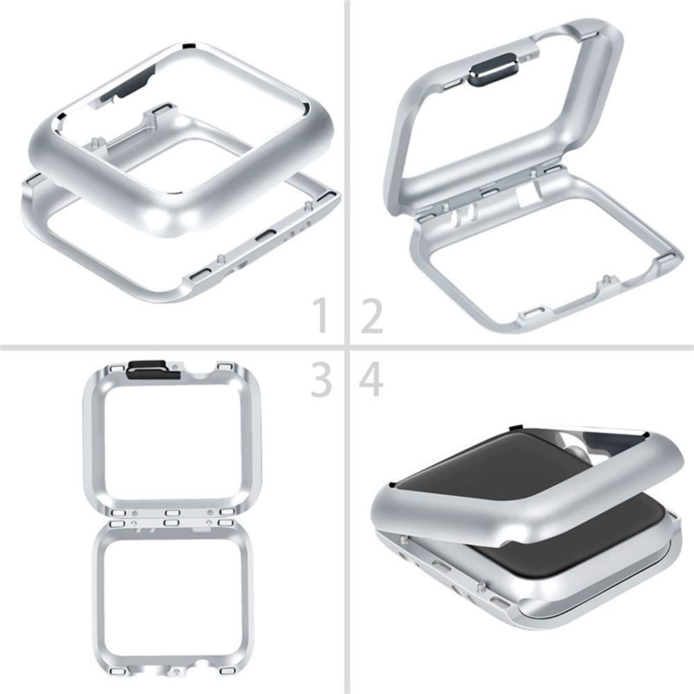 Bumper Case Capa Prata para Apple Watch 4 - TAM: 44 mm