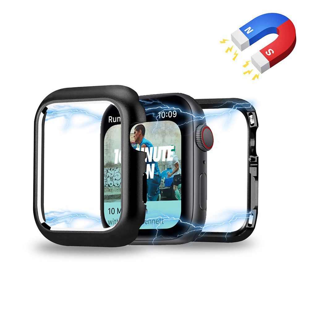 Bumper Preto Case Capa Preta para Apple Watch 4 - TAM: 44 mm
