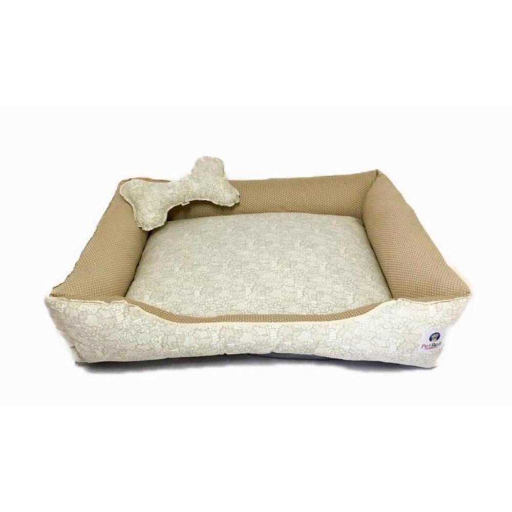 Cama Pet 100% algodão Cachorro Gato  c/ zíper - Tam G - Ursinhos