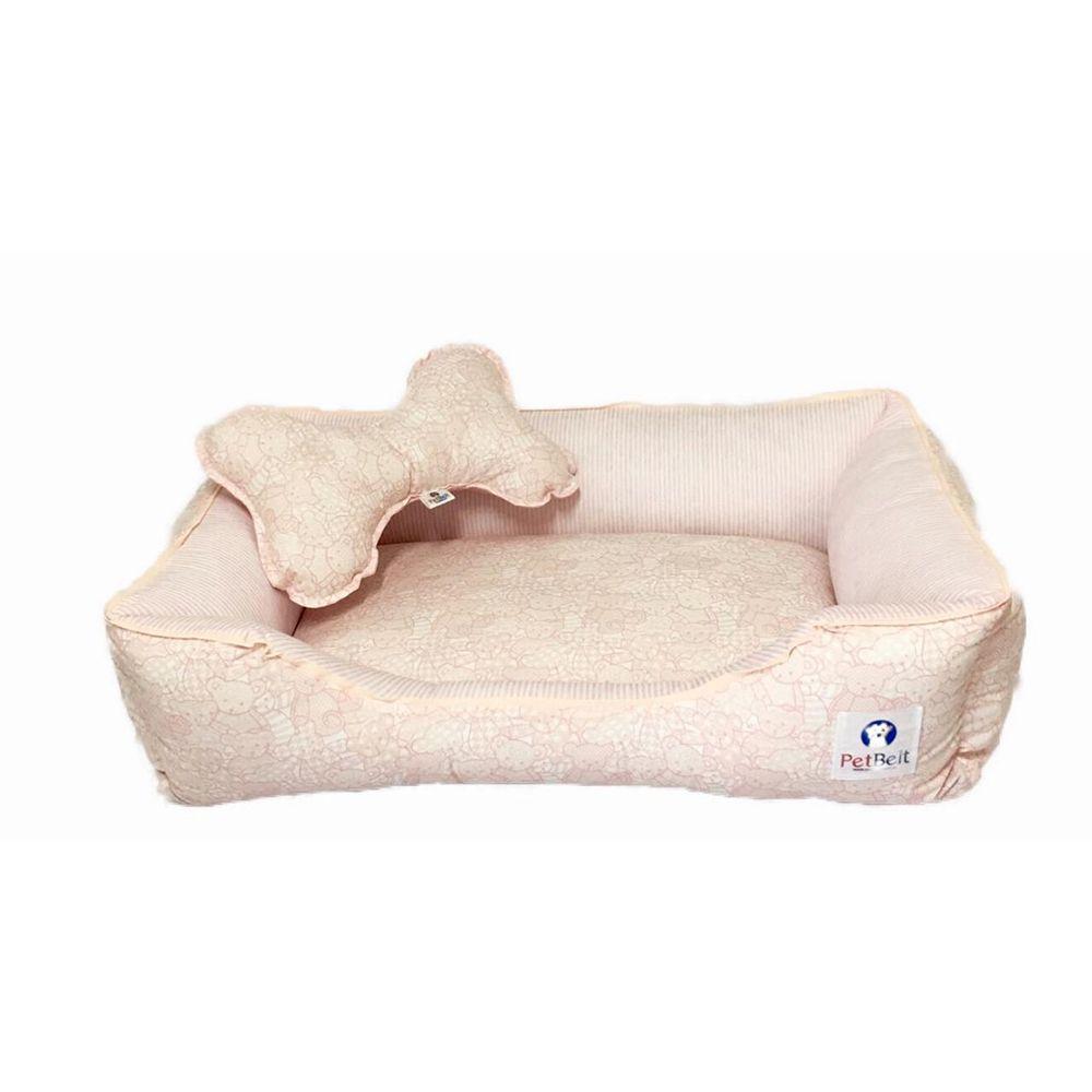 Cama Pet 100% algodão Cachorro Gato  c/ zíper - Tam P - Ursinhas
