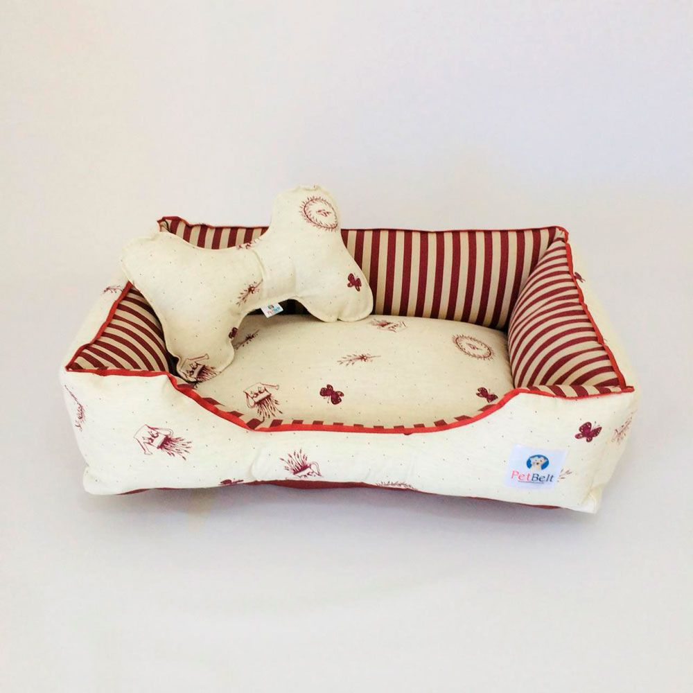 Cama Pet de Linho Cachorro Gato c/ zíper - Tam M - Lê Petit