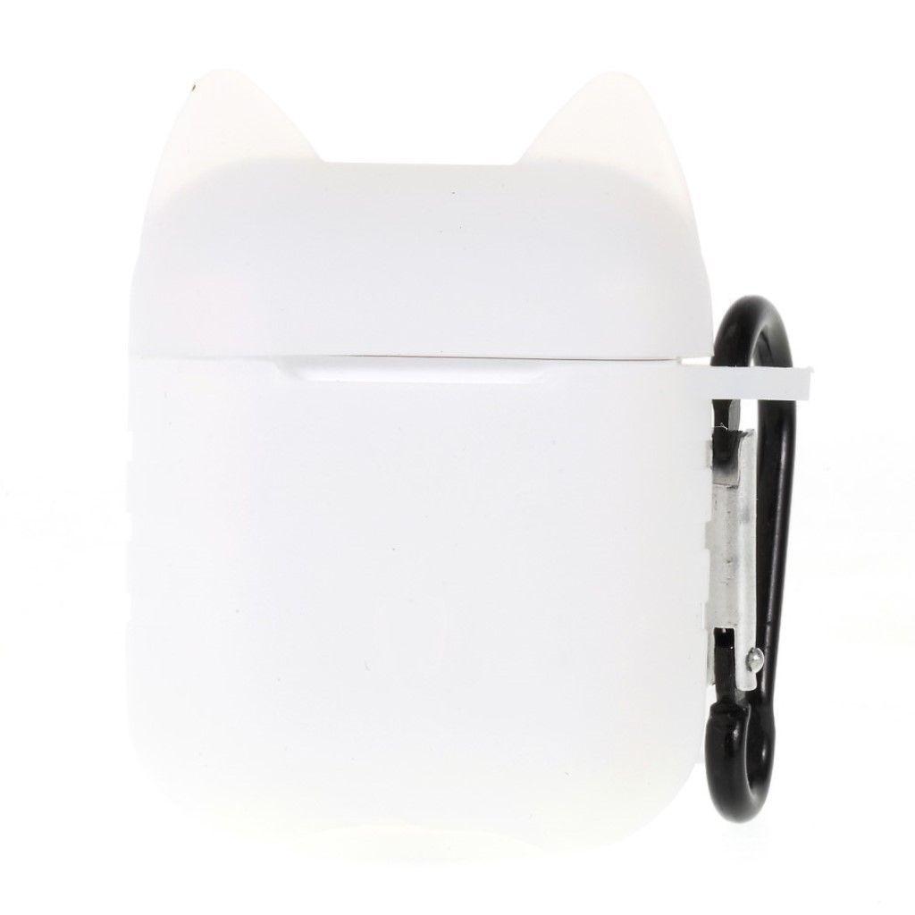 Capa Case Especial de Silicone para Airpods Cat Branco