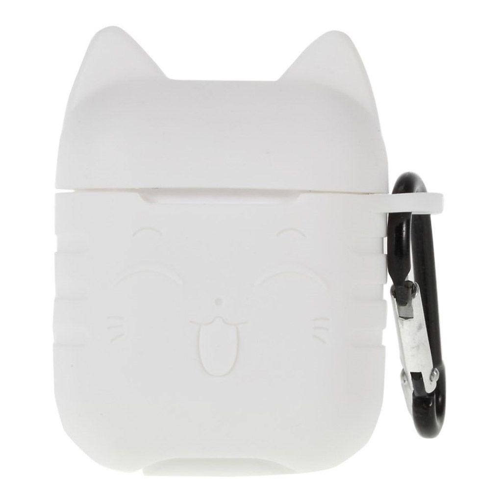 Capa Case Especial de Silicone para Airpods Cat Transparente