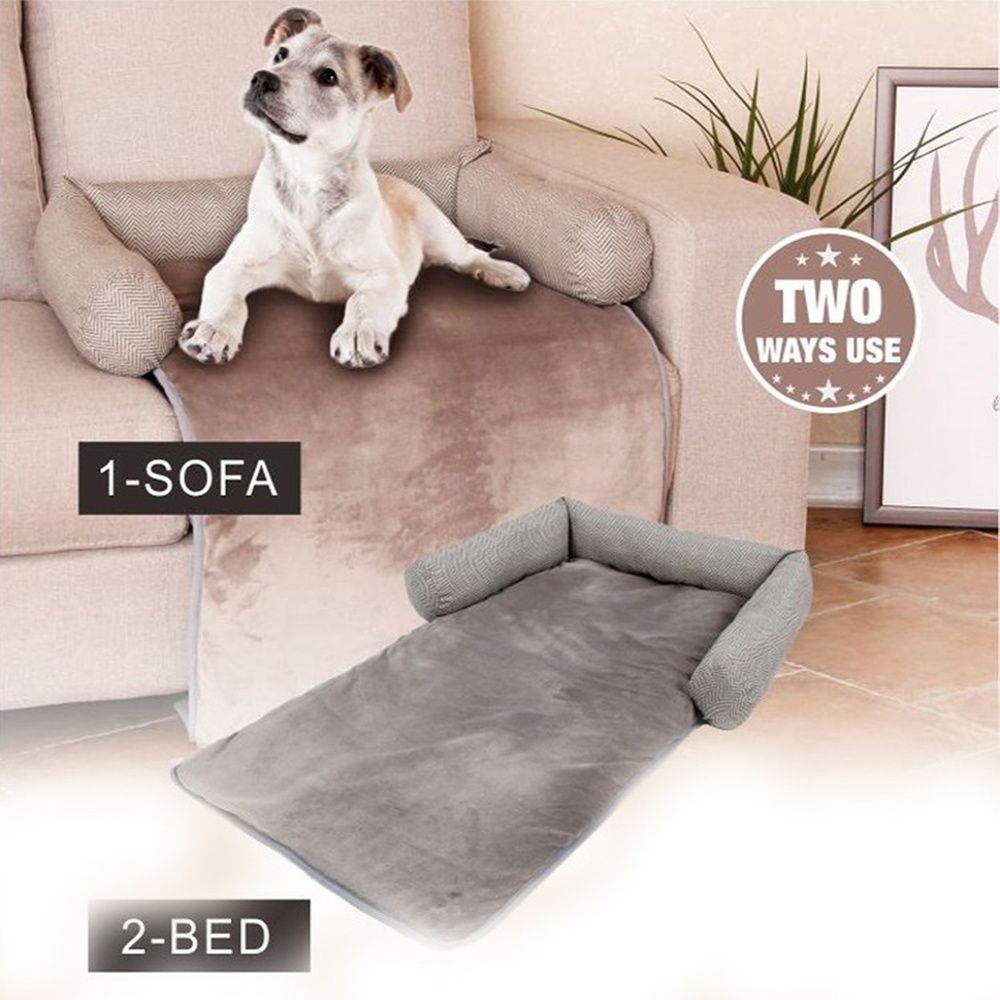 Capa de Sofa para Cachorro Gato Cama Pet 2 em 1