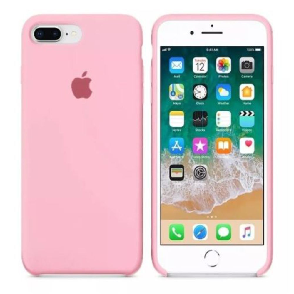 Capinha iPhone Case Modelo Apple Para iPhone 7 e 8 Plus Rosa