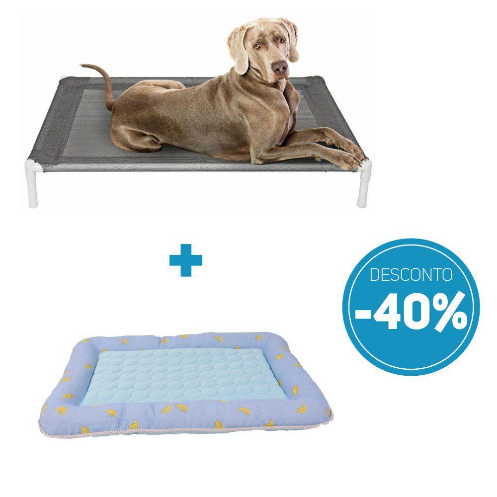 Compre 2 itens: Cama Pet Elevada e Colchonete para Pet com 40% de desconto o kit