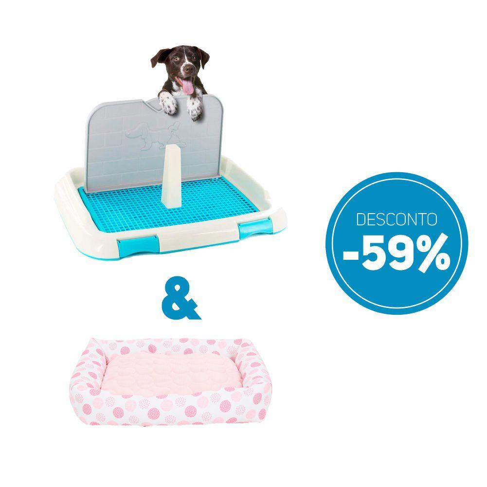 Compre 2 itens: Sanitario de Cachorro Higienico e Cama Pet Almofada com 59% de desconto
