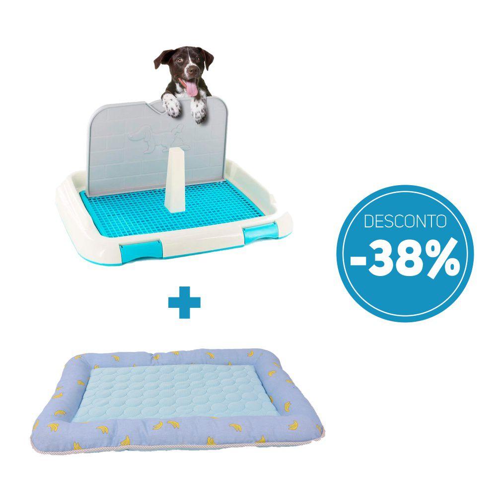 Compre 2 itens: Sanitario de Cachorro Higienico e Colchonete para Pet com 38% de desconto