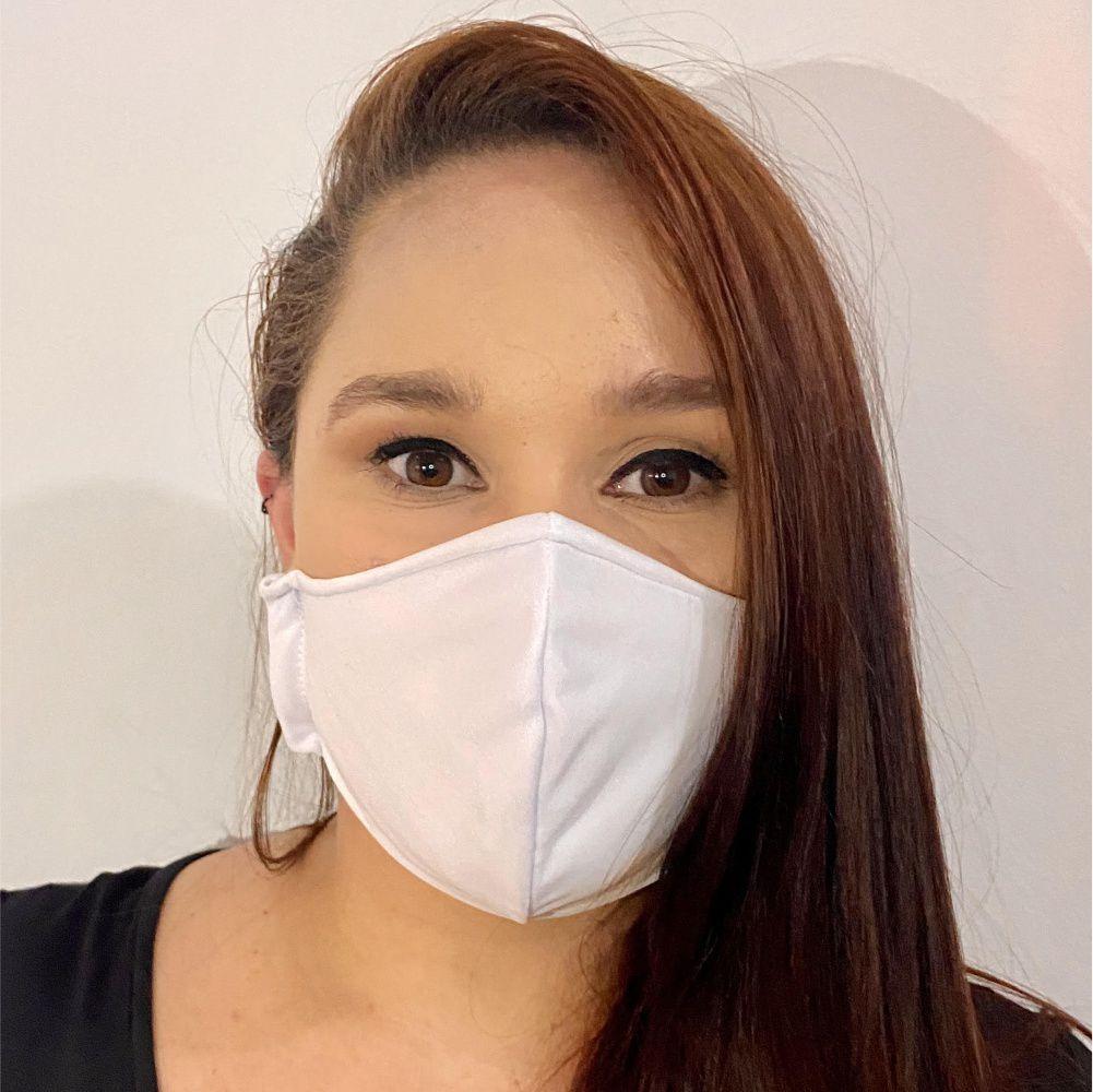 Mascara de Proteção Reutilizável com Tecido Duplo 100% Poliéster
