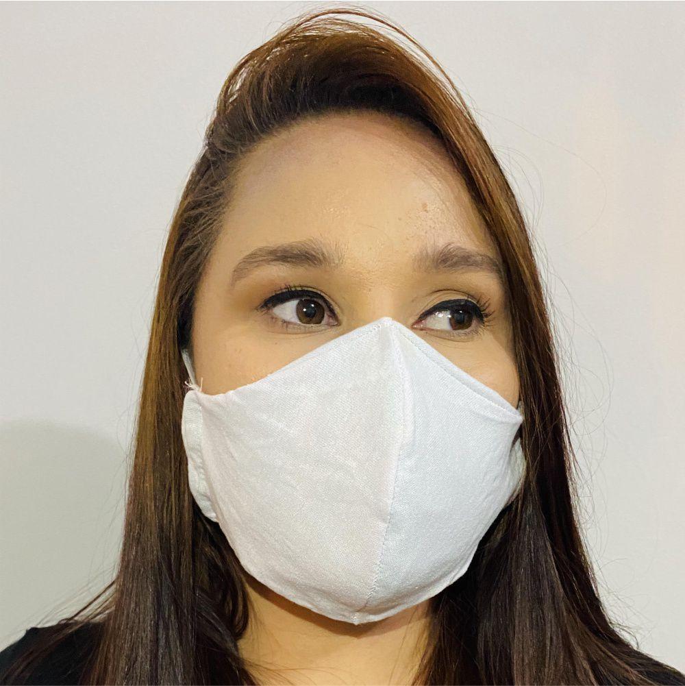 Mascara de Proteção Reutilizável com Tecido Duplo e Filtro em TNT