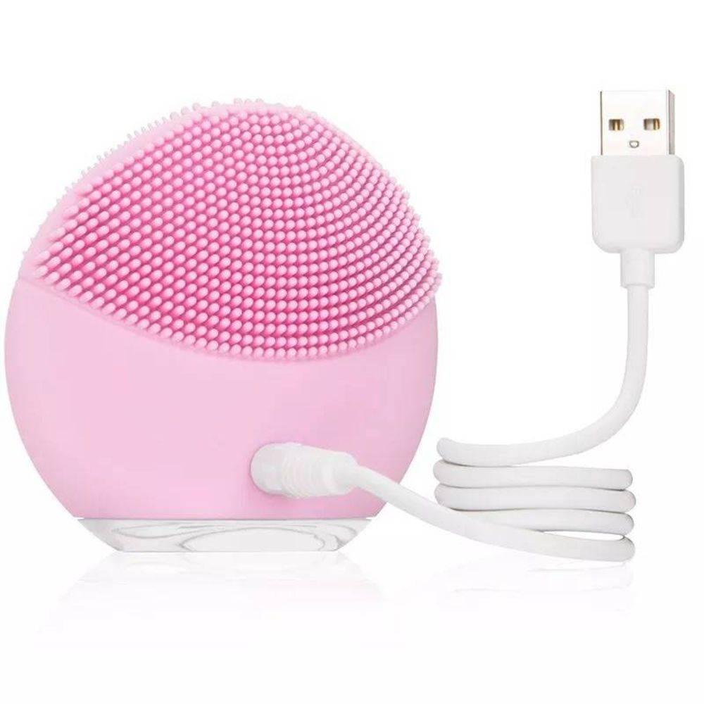 Massageador Facial para Limpeza Facial - Rosa