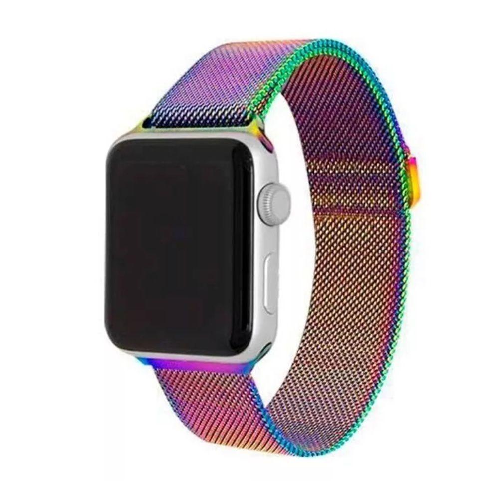 Pulseira Aço Apple Watch 42/44mm Furta Cor
