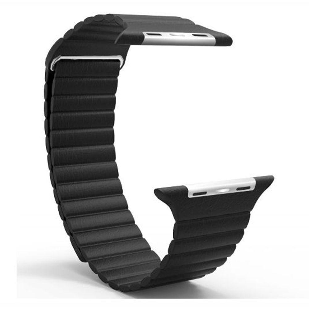 Pulseira de Couro Loop Magnetica para APPLE WATCH - 42/44mm - Preto