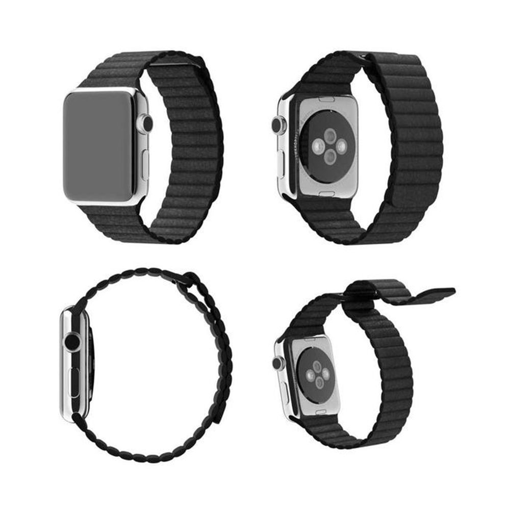 Pulseira de Couro Loop Magnetica para APPLE WATCH - 42/44mm - Preto