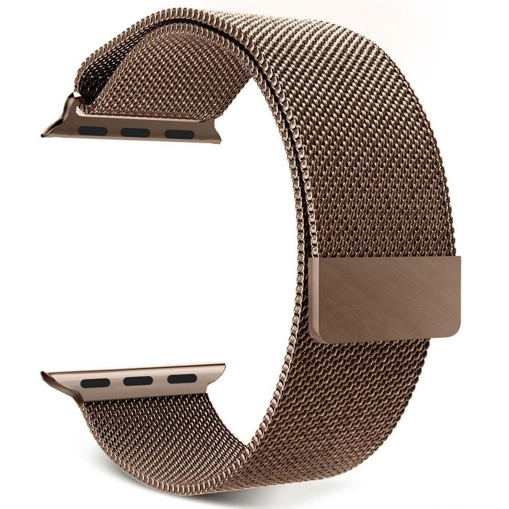 Pulseira Aço Apple Watch 42/44mm Cor Ouro Bronze