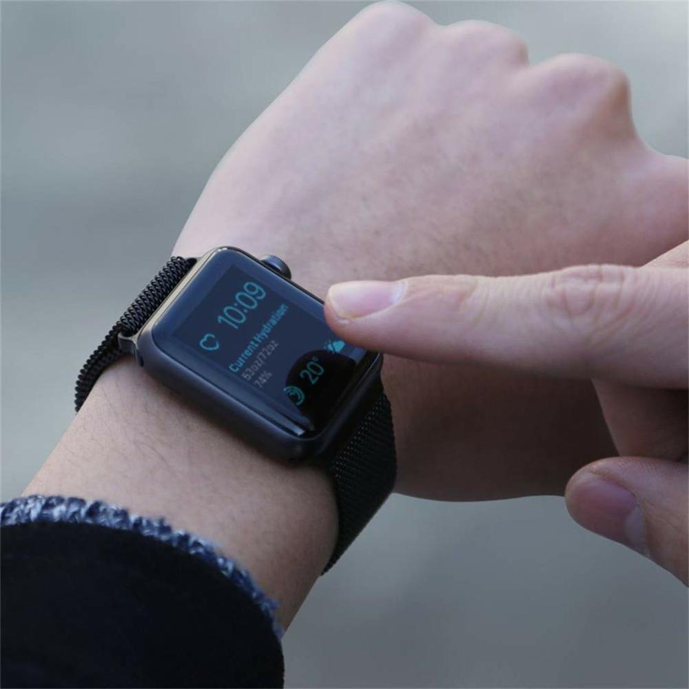 Pulseira Aço Apple Watch 42/44mm Cor Preta