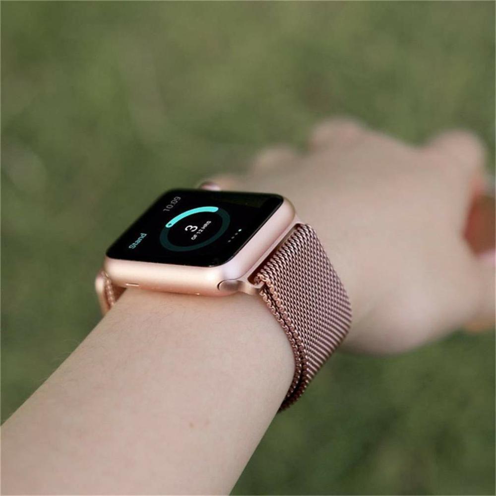 Pulseira Aço Apple Watch 42/44mm Cor Rosê Gold