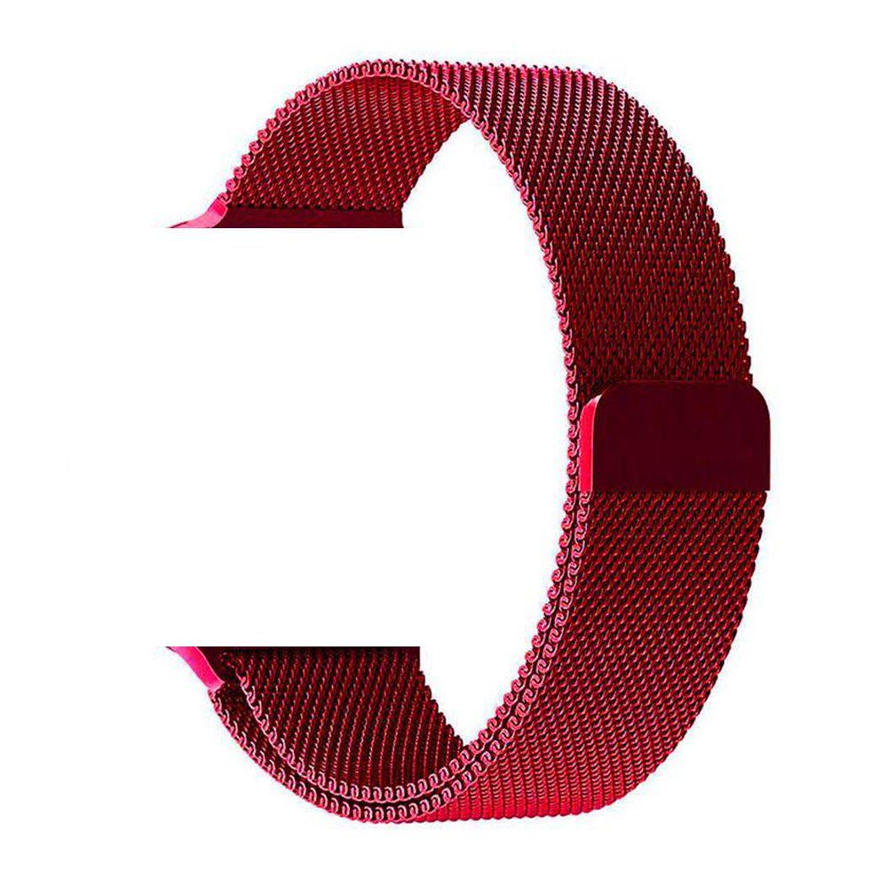 Pulseira Aço Apple Watch 42/44mm Cor Vermelho