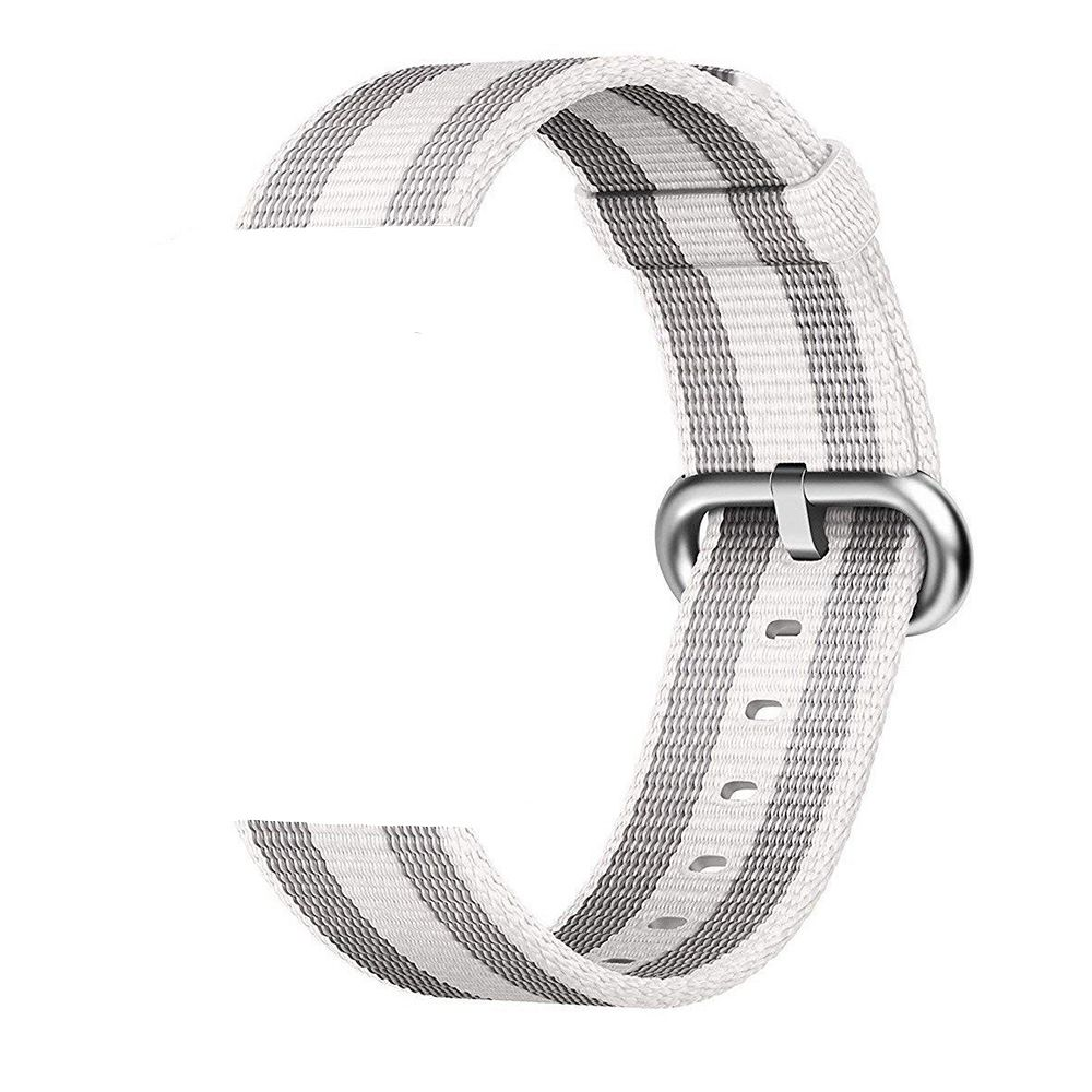 PULSEIRA Nylon Sport Loop  para Apple Watch 42/44 mm - Cinza e Branco