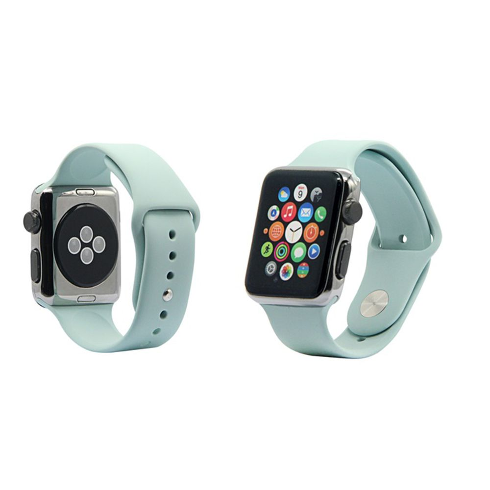Pulseira de Silicone Apple Watch Esportiva 42/44 mm Azul Tiffany (Cyan)