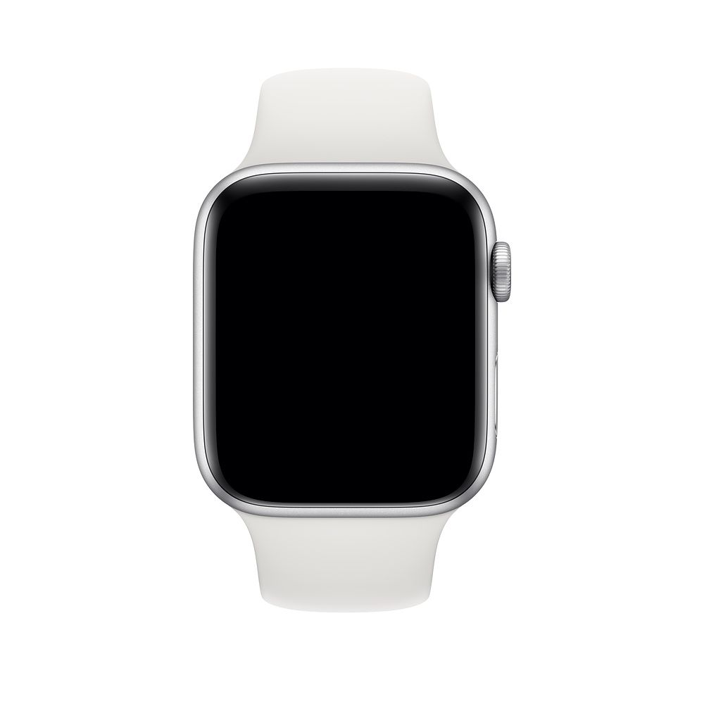 Pulseira de Silicone Apple Watch Esportiva 42/44 mm Branca