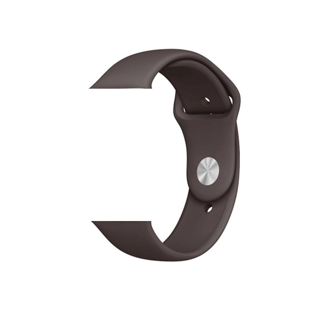 Pulseira de Silicone Apple Watch Esportiva 42/44 mm Marrom Escuro