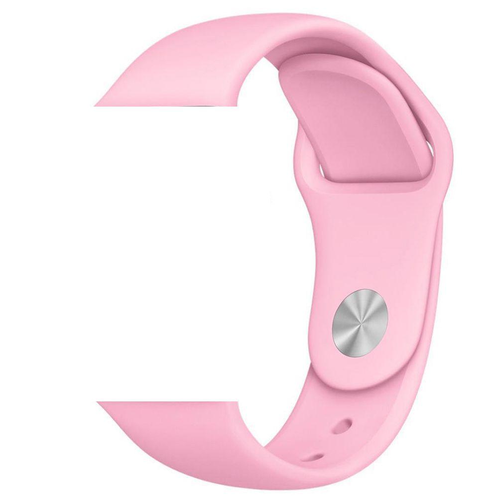 Pulseira de Silicone Apple Watch Esportiva 42/44 mm - Rosa