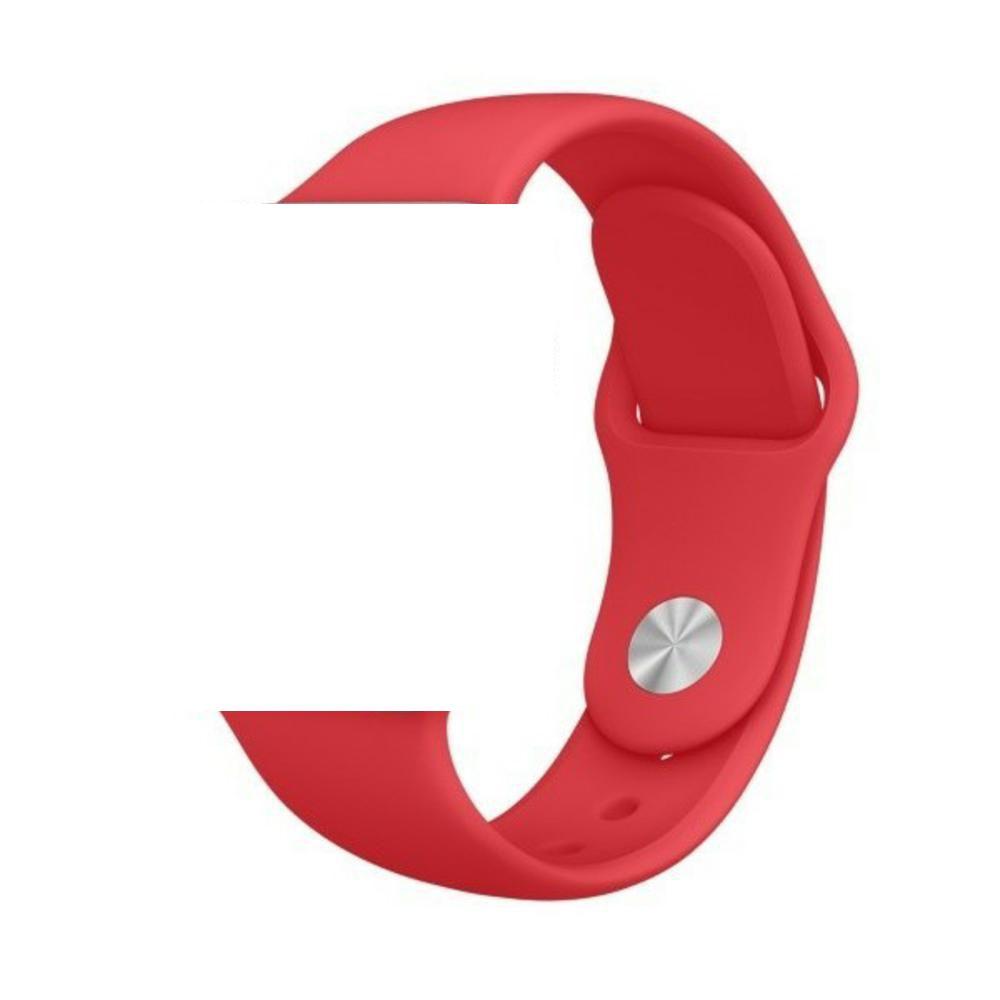 Pulseira de Silicone Apple Watch Esportiva 42/44 mm - Vermelha