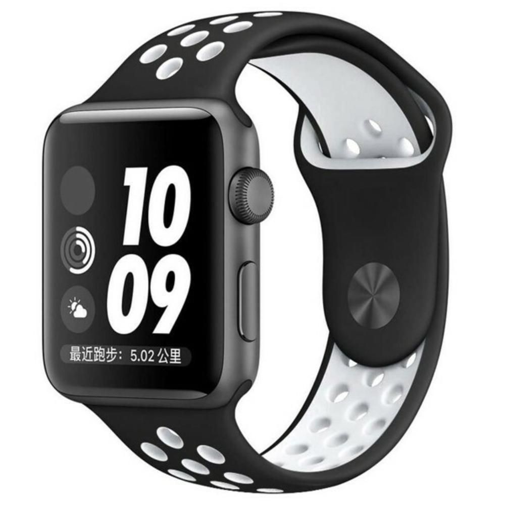d03d8fbf227 Pulseira Sport Silicone Nk Furo Para Apple Watch 1 2 3 4- 42 44mm ...